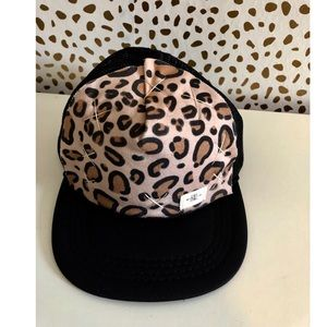 Toddler Handmade Leopard Print SnapBack Hat.